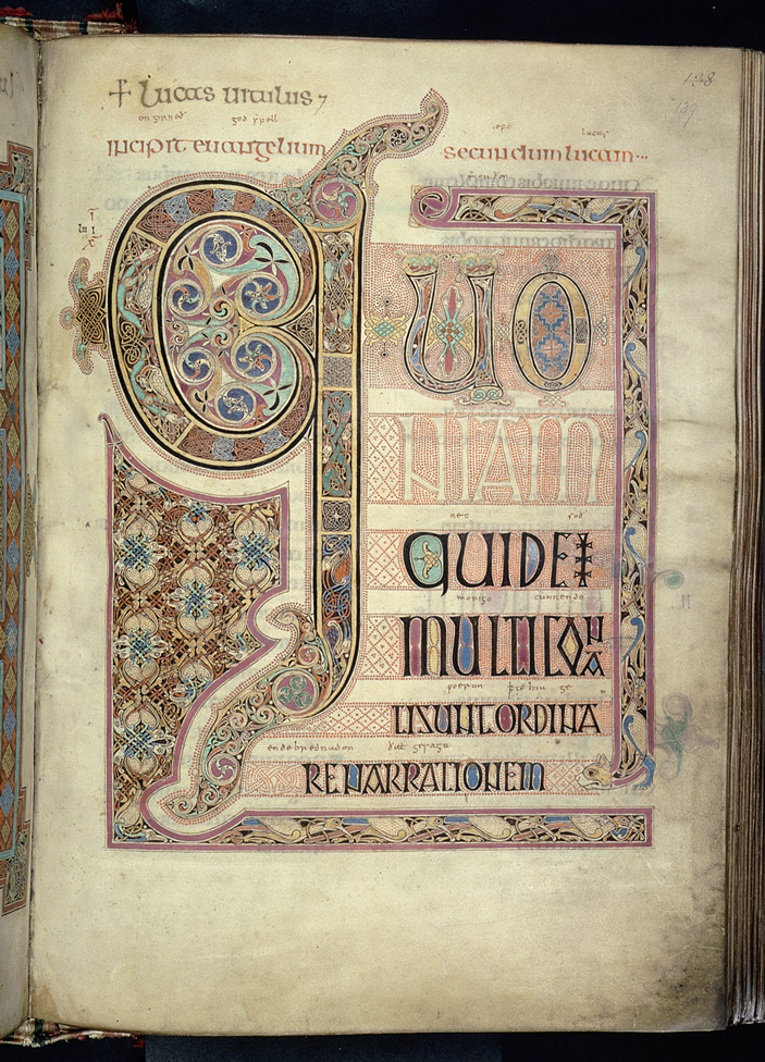 The opening of St Luke's Gospel in the Lindisfarne Gospels